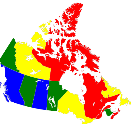 Map Of Canada Color Two Illustrative Examples — D Wave System Documentation documentation